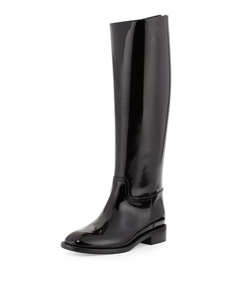 Saint Laurent Spazzolato Flat Knee Boot