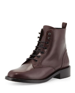 Saint Laurent Short Lace-Up Combat Boot