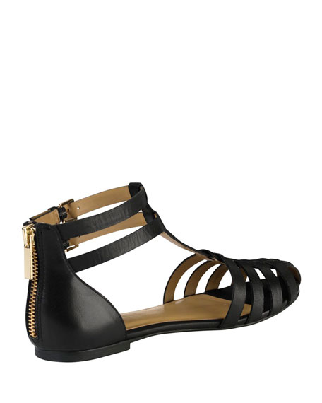 Ivy Leather Huarache Sandal, Black