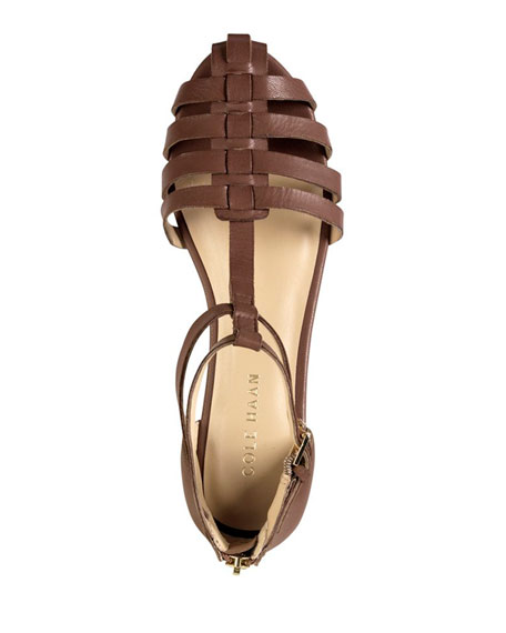 Ivy Leather Huarache Sandal, Sequoia