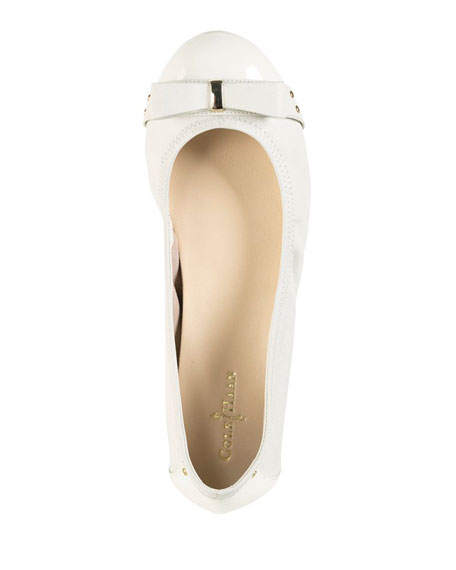 Air Monica Leather Ballerina Flat, Ivory