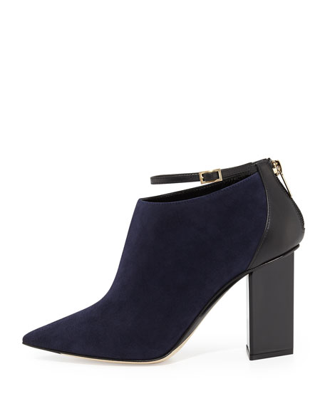 clearance genuine Jimmy Choo Suede Ankle-Strap Booties amazon online cheap sale outlet store JZKih