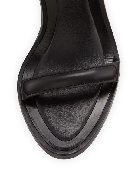 Raw Leather Ankle-Cuff Sandal