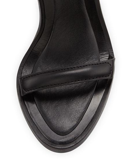 Saint & Libertine Raw Leather Ankle-Cuff Sandal