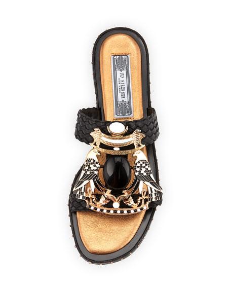 Tutankhamun Braided Ornament Slide Sandal
