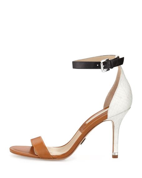 Natasia Three-Tone Naked Sandal