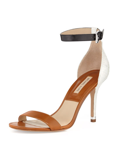 Michael Kors  Natasia Three-Tone Naked Sandal