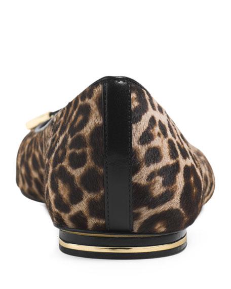 Pearl Leopard-Print Ballerina Flat