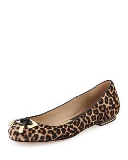 Michael Kors  Pearl Leopard-Print Ballerina Flat