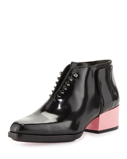 3.1 Phillip Lim Runway Newton Leather Chelsea Bootie, Black