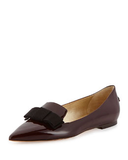 Jimmy Choo Gala Patent Bow Loafer, Mirto