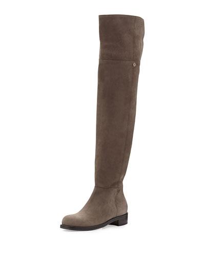 Deron Nubuck Over-the-Knee Boot, Light Quartz