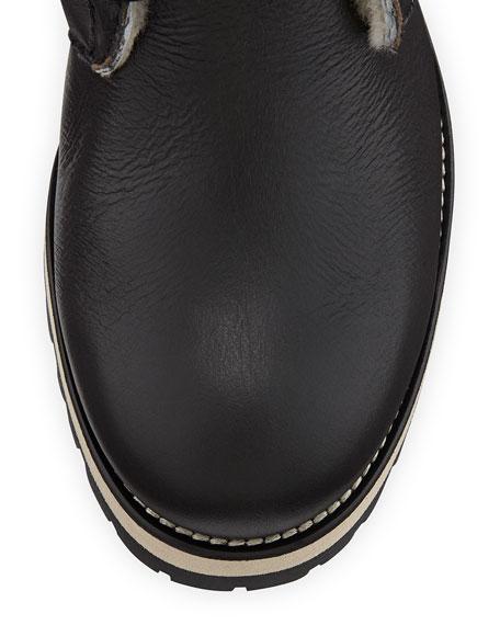 Dalton Shearling Fur-Lined Mid-Calf Boot