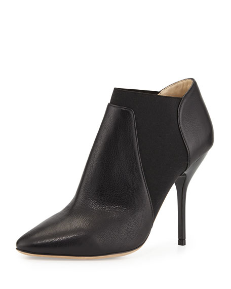 Deluxe Leather Ankle Boot, Black