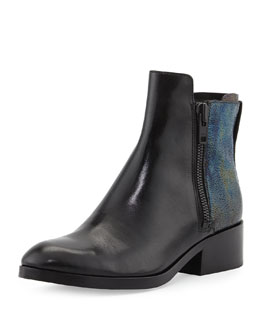 3.1 Phillip Lim Alexa Petrol Ankle Boot