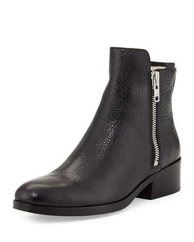 3.1 Phillip Lim Alexa Shearling-Lined Leather Ankle Boot, Black
