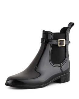 Jimmy Choo Jai PVC Short Rain Boot, Black