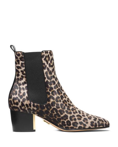 Yvette Leopard-Print Bootie