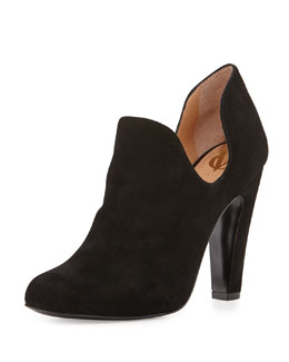 VC Signature Gabel Dipped Suede Ankle Boot, Black