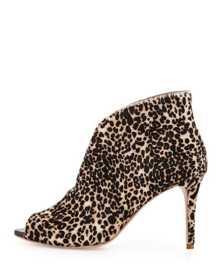 Ronan Leopard-Print Calf Hair Bootie