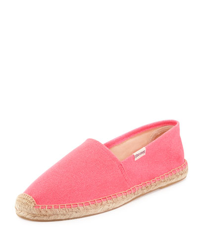 Soludos Original Canvas Espadrille Flat, Hot Pink