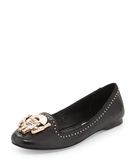 Mercury Tribal Man Ballerina Flat, Black