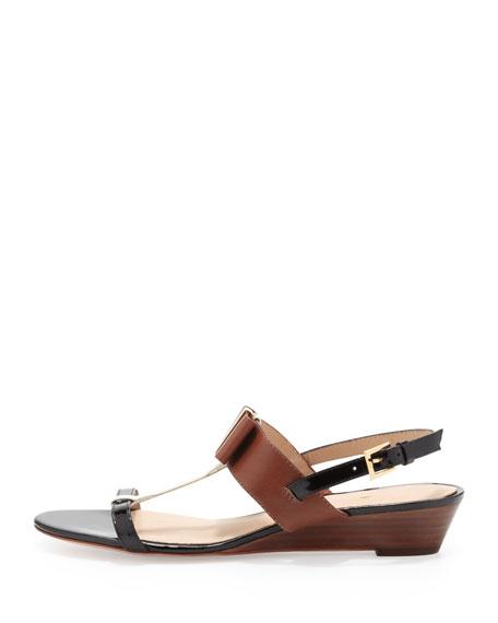 vinny colorblock bow wedge sandal, multi