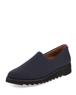 Donald J Pliner Belfast Stretch Crepe Slip-On, Navy