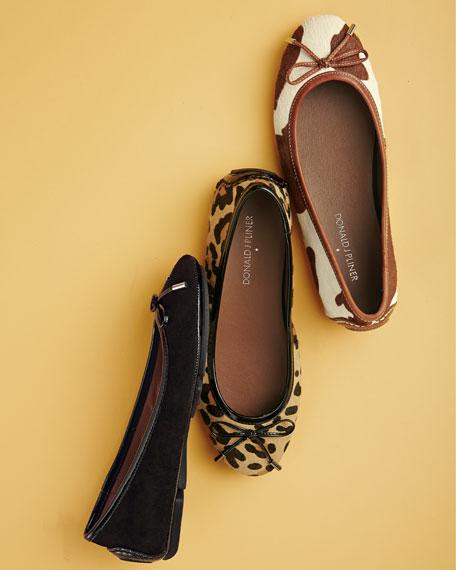 Riki Leopard-Print Ballerina Flat