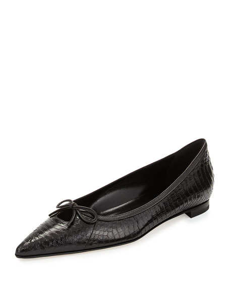 Fretaba Pointy Snake Bow Flat, Black