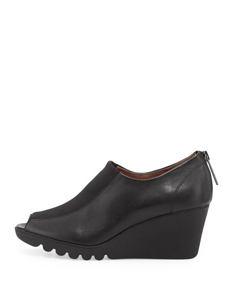 Marve Napa Wedge Bootie, Black