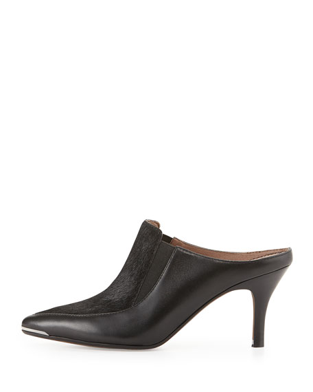 Trist Calf Hair & Leather Point-Toe Mule