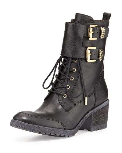 Donald J Pliner Danti Lace-Up Ankle Boot, Black