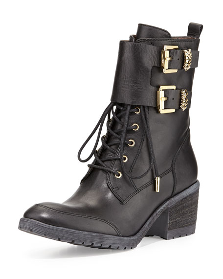 Danti Lace-Up Ankle Boot, Black