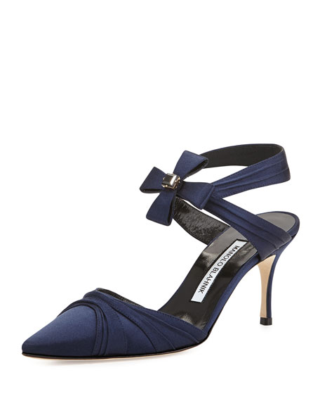 Mantello Satin Bow Pump