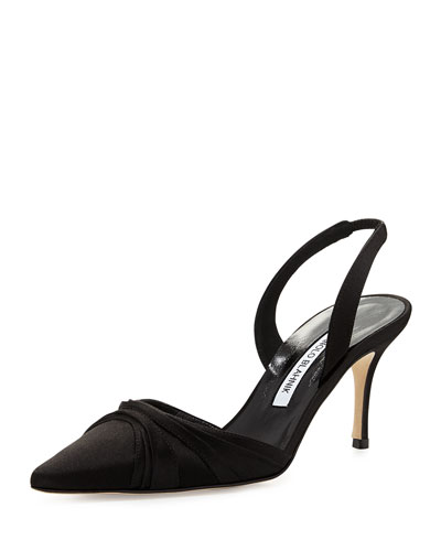 Mantello Satin Slingback Pump