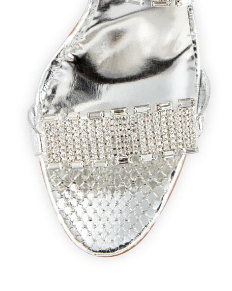 Dallifaco Crystal-Band Snake Slide Sandal