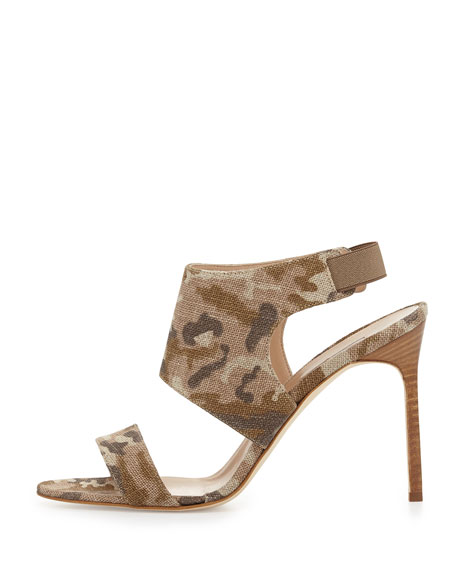 Loyal Linen Canvas Sandal, Camo