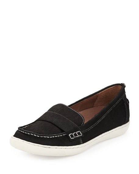Molto Calf Hair Sport Loafer, Black