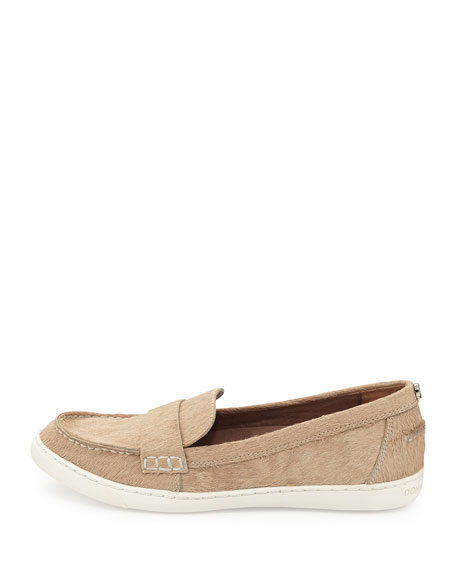 Molto Calf Hair Sport Loafer, Natural