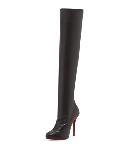 Christian Louboutin Sempre Monica Over-the-Knee Red Sole Boot