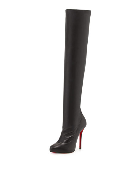 Christian LouboutinSempre Monica Over-the-Knee Red Sole Boot