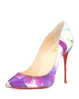 Christian Louboutin Pifalle Follies Satin Red Sole Pump, Multicolor