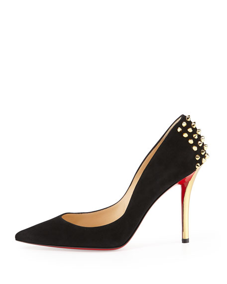 christian louboutin zappa 100 embellished leather pumps
