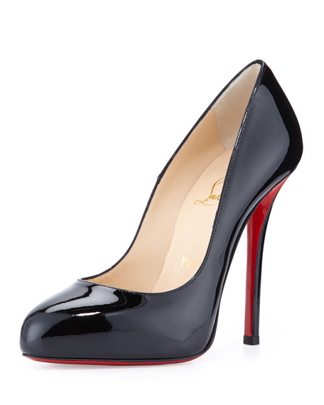 Christian Louboutin Argotik Patent Red Sole Pump, Black