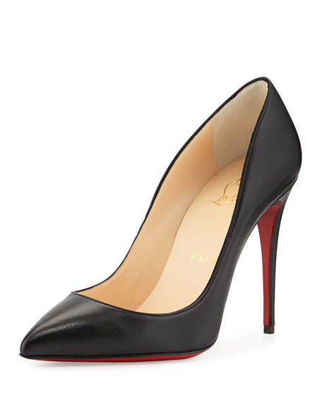 Christian Louboutin Pigalle Follies Point-Toe Red Sole Pump,