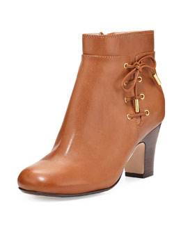 Taryn Rose Terrie Side-Laced Bootie, Tan