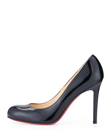 Christian Louboutin Simple Patent Red Sole Pump, Black