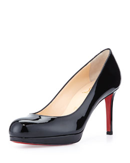 Christian Louboutin New Simple Patent Red Sole Pump, Black