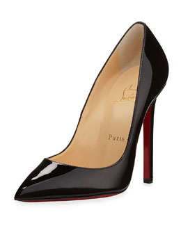 Christian Louboutin Pigalle Patent Leather Red Sole Pump, Black